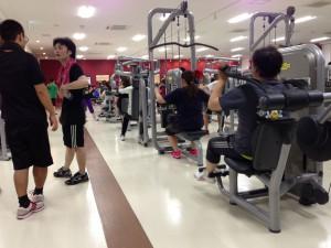 長崎のジムで体力作り