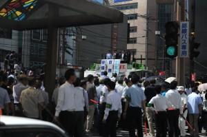 安倍首相の長崎視察